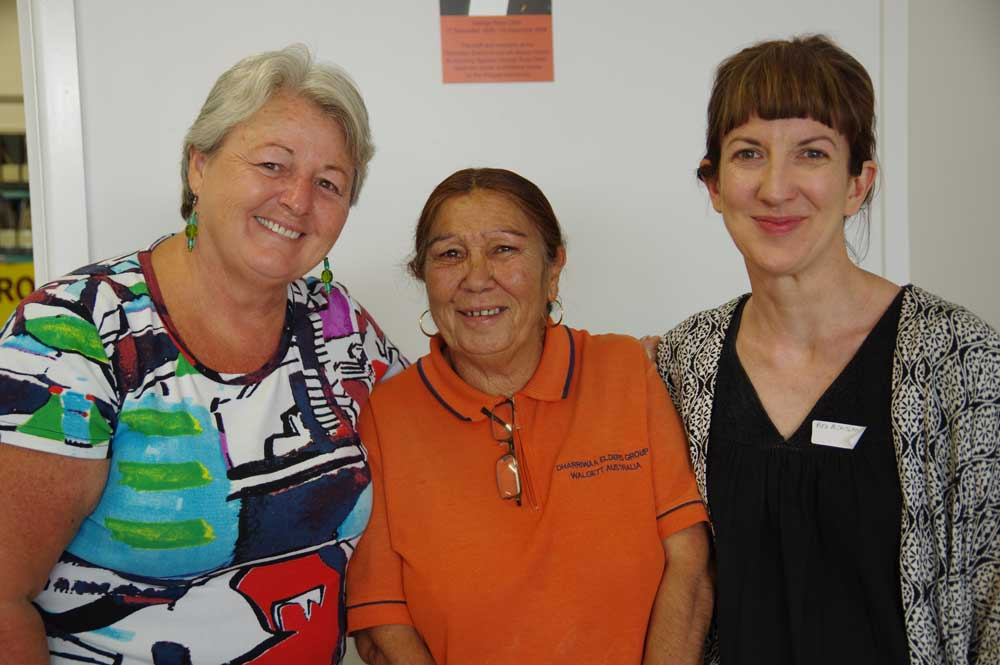 Facilitator Liz McEntyre with DEG's Kim Sullivan and Dr Ruth McCausland after the meetings